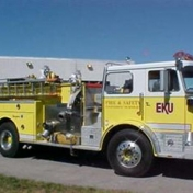 This apparatus is a 1977 Seagraves pumper; it was donated to us by the Franconia Fire Department, Station 5 from Fairfax County